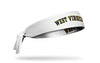 West Virginia University: Wordmark White Tie Headband