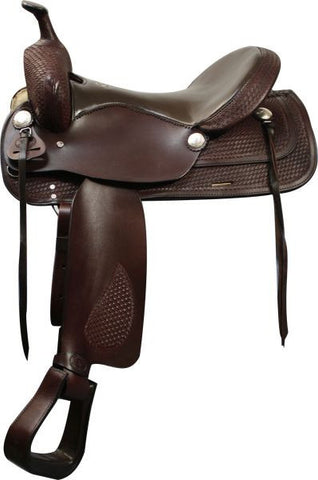 "16"" Double T Trail Style Saddle. Semi QH Bars."