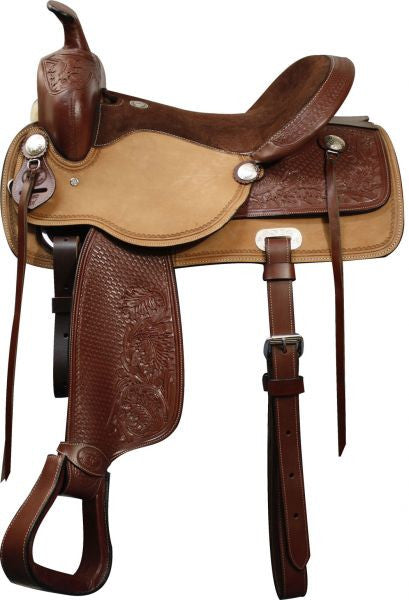 "16"", 17""  Double T Pleasure Style Saddle. Full QH Bars."