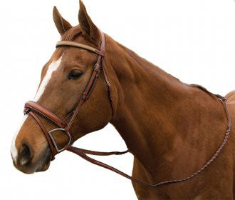 Exselle Elite Raised Padded Fancy Stitched Bridle with x brow BN