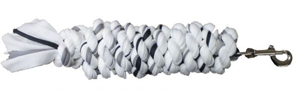 "5/8"" x 8' speckled cotton lead rope with bolt snap."