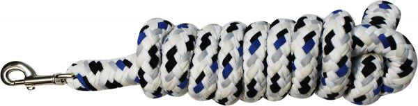 "5/8"" x 8' speckled cotton lead rope with bolt snap"