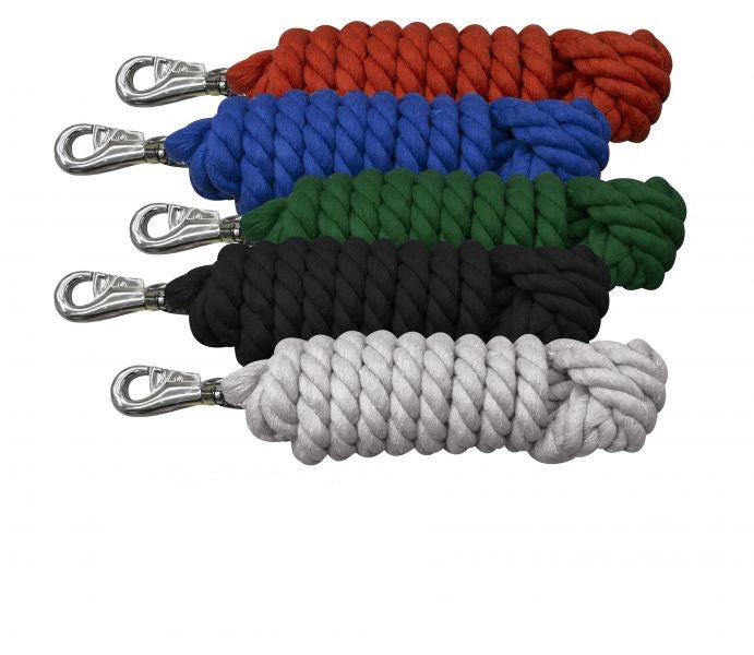 "0.75"" x 10' braided cotton lead with bull snap"