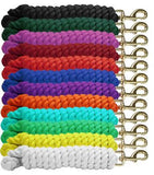 "0.75"" x 10' braided cotton lead with brass snap"