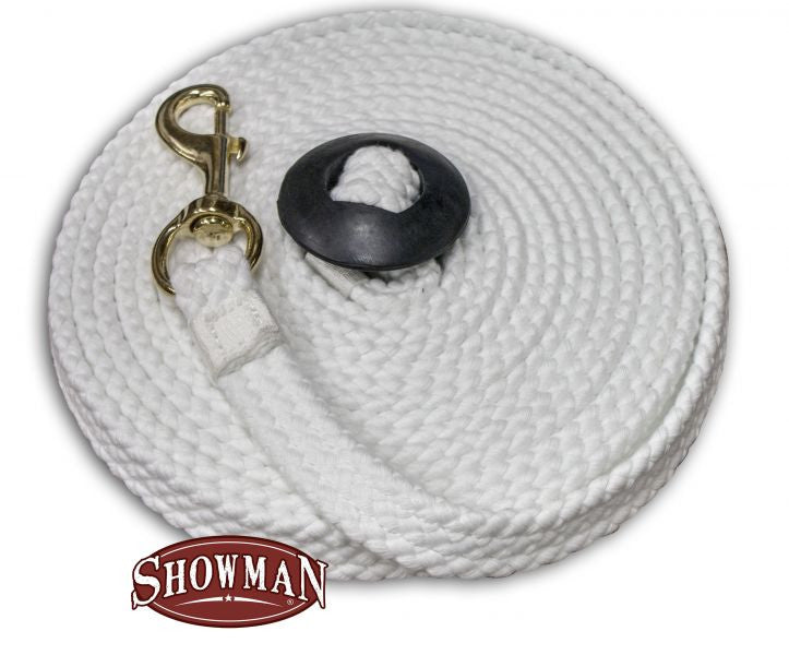 Showman Super soft, great feeling, 25 foot braided cotton rope lunge line
