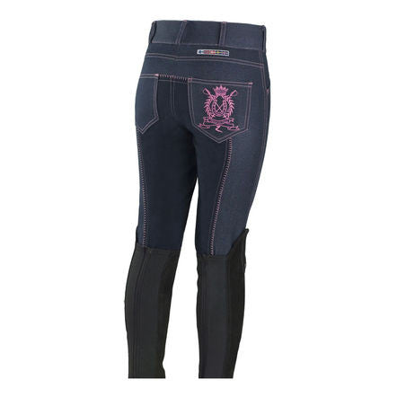 Horze Junior Denim Embroidery Breeches