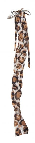 Showman Durable leopard print Lycra braid-in tail bag