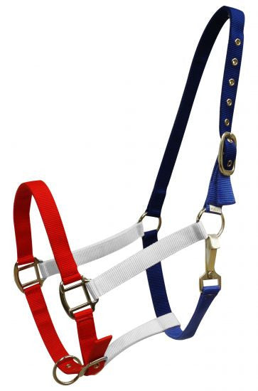 Showman Red, White and Blue nylon halter