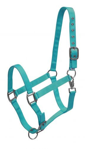3 Ply average horse size adjustable halter with heavy duty throat snap