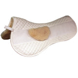 Quilted Half Pad with Moveable Extra Padding