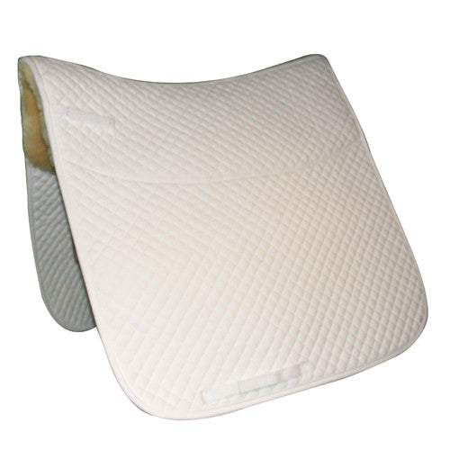 Quilted Dressage Pad w/Sheepskin