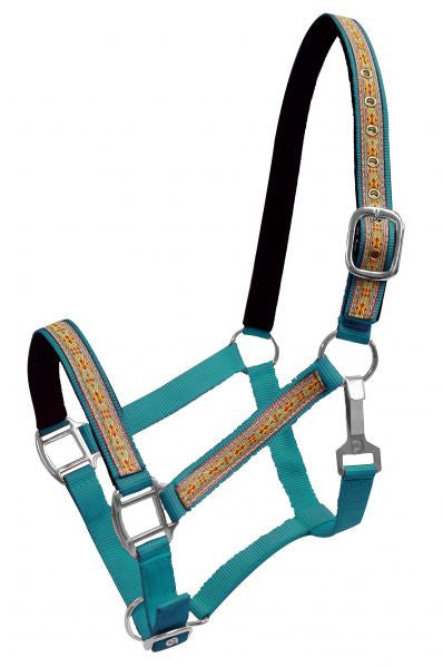 FULL SIZE  2 Ply nylon halter with SouthWest design overlay