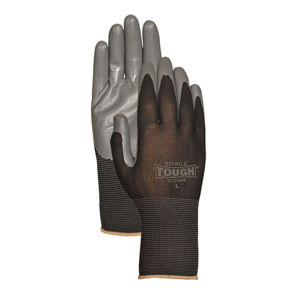 Bellingham Nitrile Tough Equestrian Gloves-Black