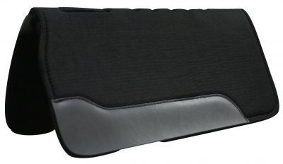 "31"" x 31"" Black felt pad with shock absorbing neoprene center"