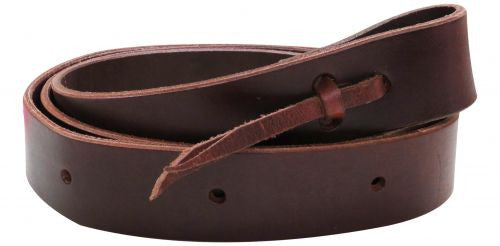 "1.5"" x 60"" leather latigo tie strap with punched holes"