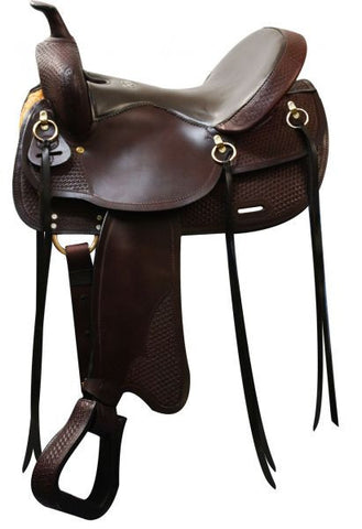 "16"" Double T Argentina Leather Trail Saddle."