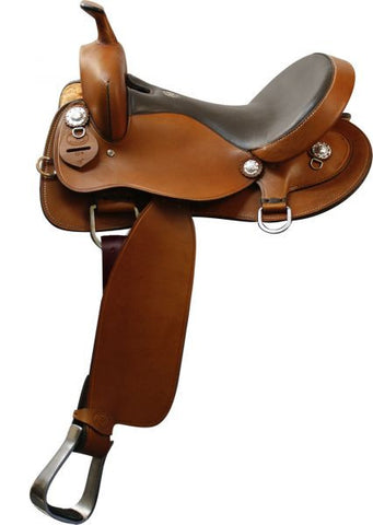 "16"" Double T Trail Saddle. Smooth finish Argentina Cow Leather."