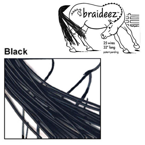 Braideez Wire Braiding Bands Black