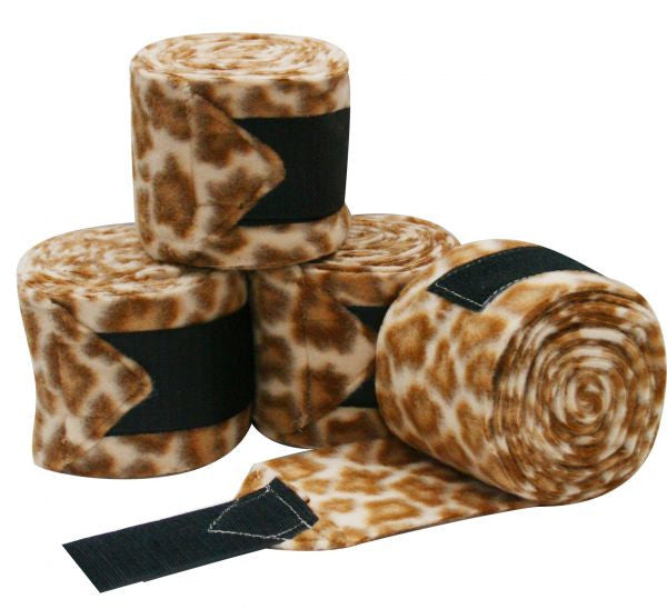 Fleece Cheetah Print Polo Wraps