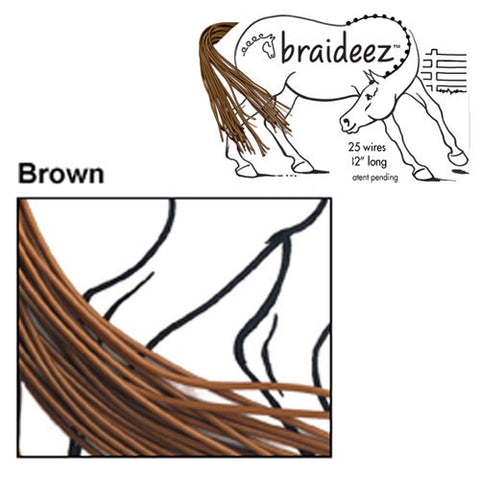 Braideez Wire Braiding Bands Brown