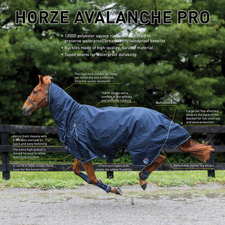 Horze Supreme Avalanche 1200D Heavy Weight Combo Turnout