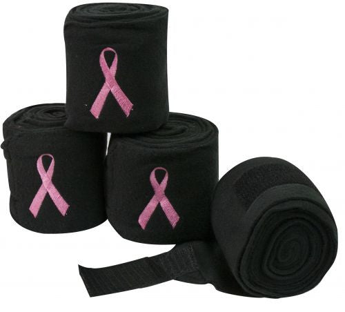 Fleece pink ribbon polo wraps