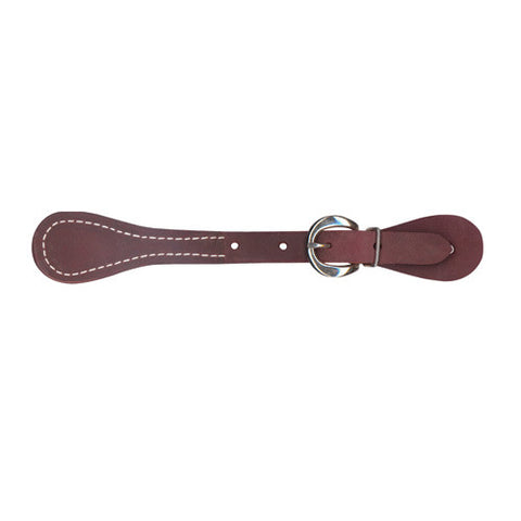COVERED BUTTON SPUR STRAPS