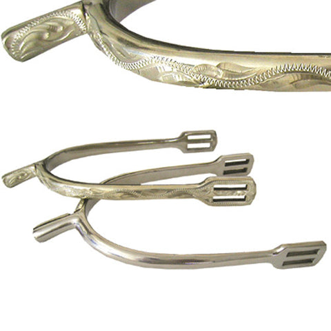 Engraved Prince of Wales Spurs - Mens 3/4""