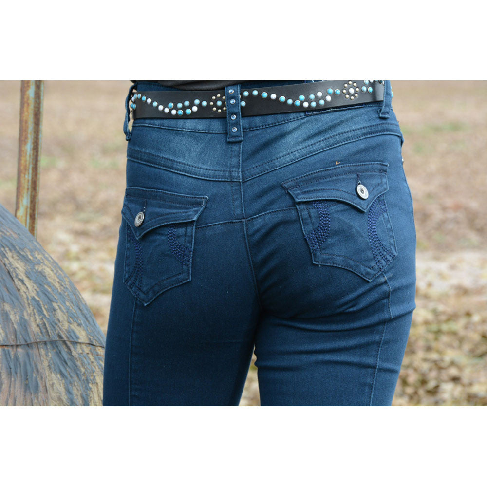 2kGrey™ Ladies Swirls Knee Patch Breech