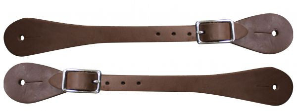 Ladies/Youth Oiled harness leather spur straps. Sold in pairs.
