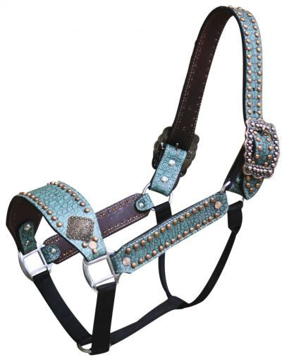 Showman Belt Style Alligator Print Halter