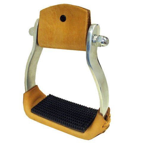 Aluminum Western Stirrups with Rubber Tread