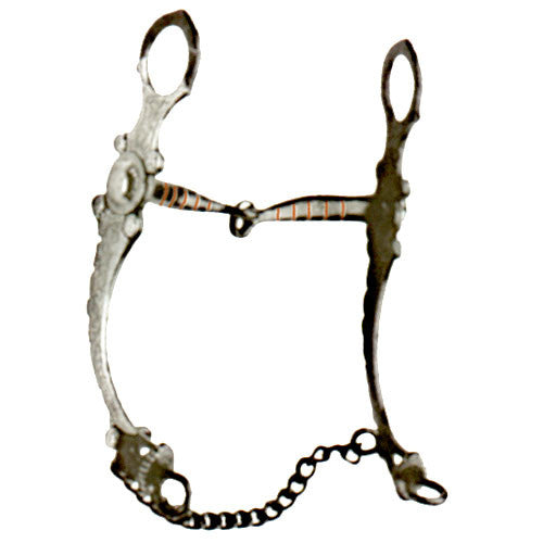 Black Snaffle w/Engraved Cheeks Bit