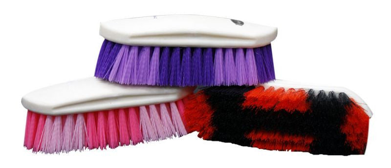Plastic handle medium bristle body brush