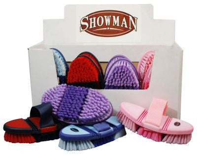Showman™ Soft touch, double jointed flexible handled brush with adjustable nylon hand strap.