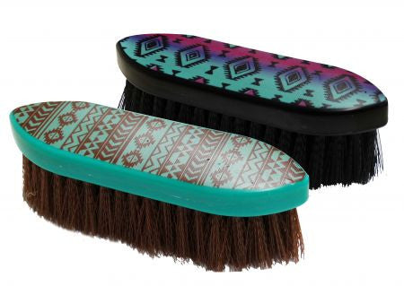 Stiff bristle Navajo print brush