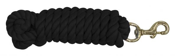 "3/4"" x 14' braided cotton lead with brass snap"