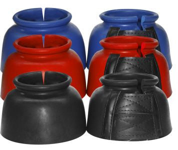 Showman™ Rubber Bell Boots with Double Velcro Closure