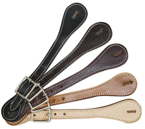 "Adult size spur straps with nickel plated buckle. Adjust 8"" to 10"". Sold in pairs."