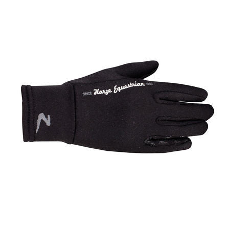 Horze Onyx Fleece Gloves with Printing