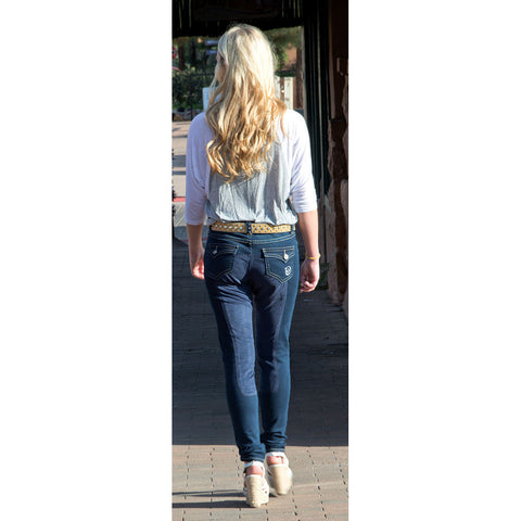 WOW Ladies Full Seat Denim Breech by 2kGrey