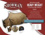 Showman HEAVY WEIGHT 22oz Water Resistant Treated Canvas Blanket