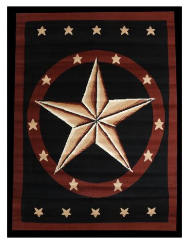 Large western star area rug