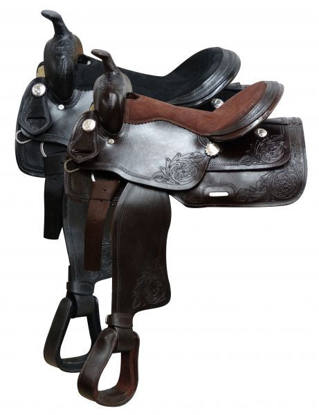 "16"" Economy Style Saddle with suede leather seat."
