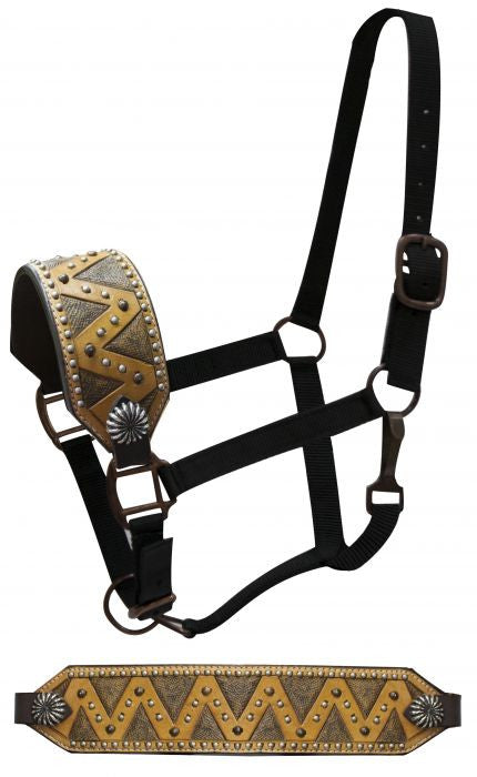 Showman FULL SIZE Bronc halter with zig zag design