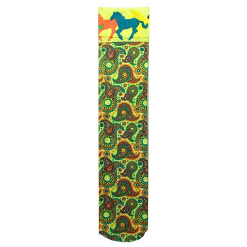 Intrepid Exclusive Horse Theme Socks-Paisley with Horses