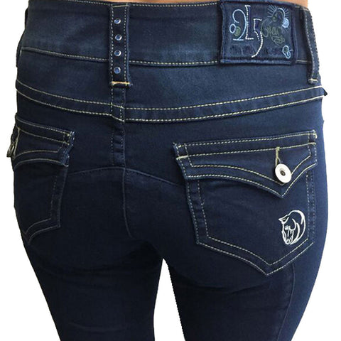 WOW Ladies Knee Patch Denim Breech by 2kGrey