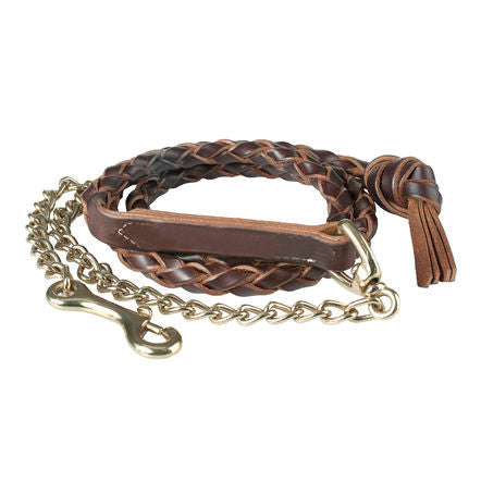 Braided Leather Lead Shank
