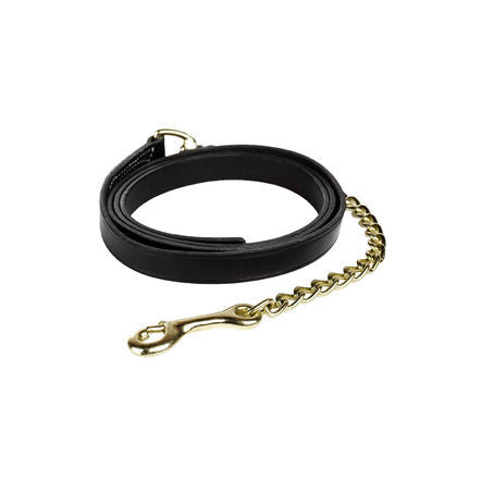 Leather Lead Shank-Single Chain