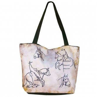 WOW Canvas Tote Bag Western Rider
